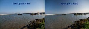 Sur cette image nous voyons bien l'effet apporté par le filtre polarisant au bleu du ciel et aussi à l'herbe à droite de l'image
