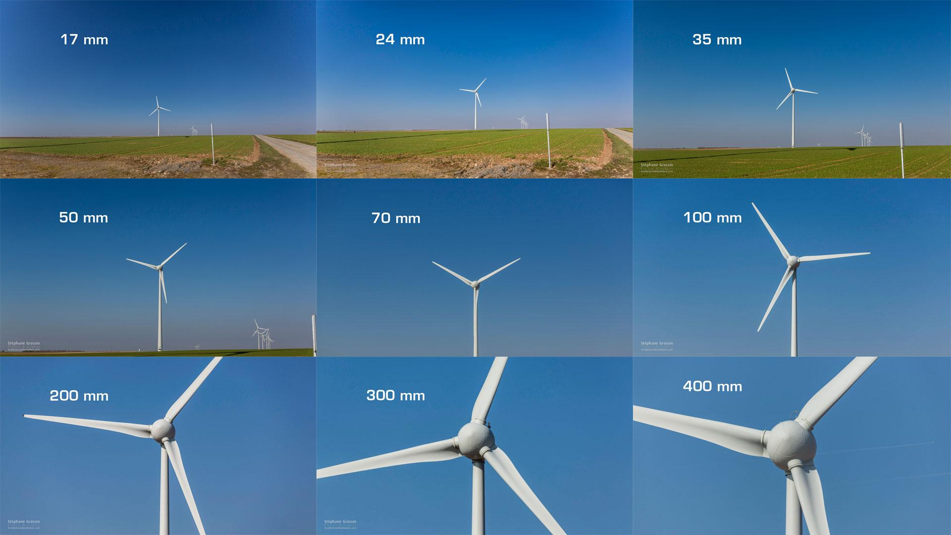 Les différentes focales des objectifs vues dans la vidéo