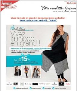 Publicité Bridjet Femme Actuelle