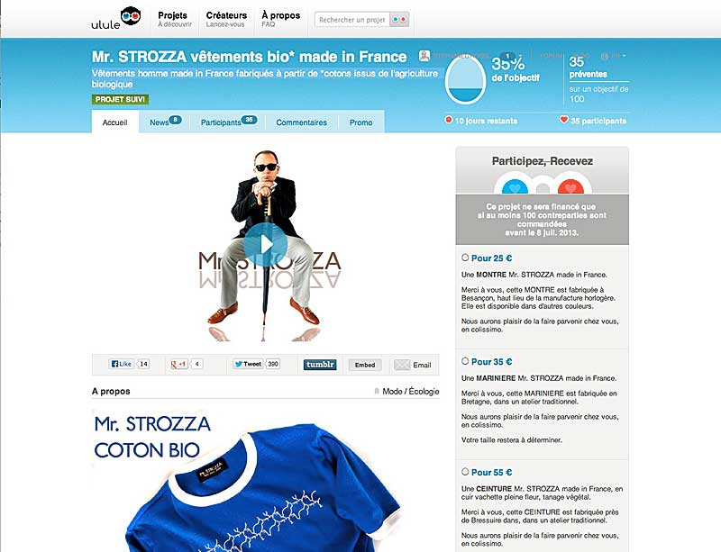 Mr STROZZA, un créateur de mode BIO, made in France
