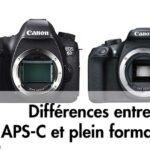 APS-C et plein format FF