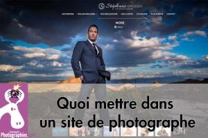 Quoi mettre dans un site de photographe