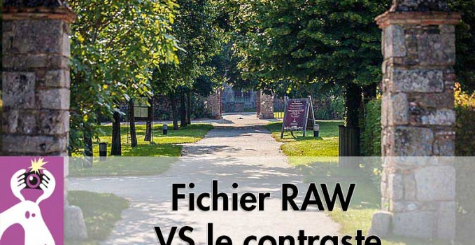 Fichier RAW VS le contraste