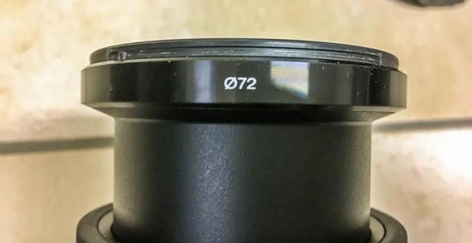 Le diamètre du filtre de l'objectif