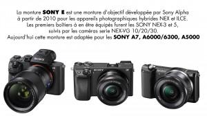 Monture SONY-E