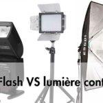 Lumière au flash ou lumière continue, que choisir ?