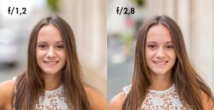 Différence entre f/1,2 et f/2,8 pour du portrait