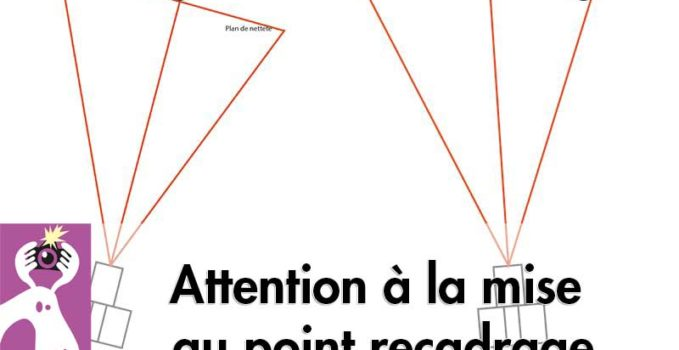 Mise au point recadrage, attention à la netteté