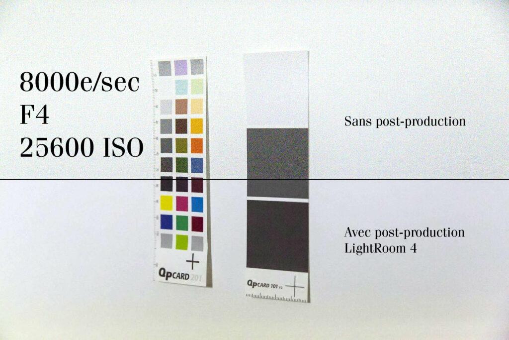 La sensibilité ISO va nous permettre d'augmenter ou de réduire la sensibilité du capteur à la lumière. Plus votre chiffre de sensibilité ISO sera important comme 6400 ISO par exemple, plus votre capteur sera sensible à la lumière. À l'inverse, plus votre chiffre de sensibilité ISO sera petit comme 100 ISO par exemple, et moins votre capteur sera sensible à la lumière.